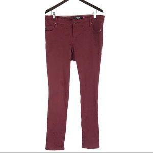Torrid Lace Overlay Floral Brocade Skinny Jeans